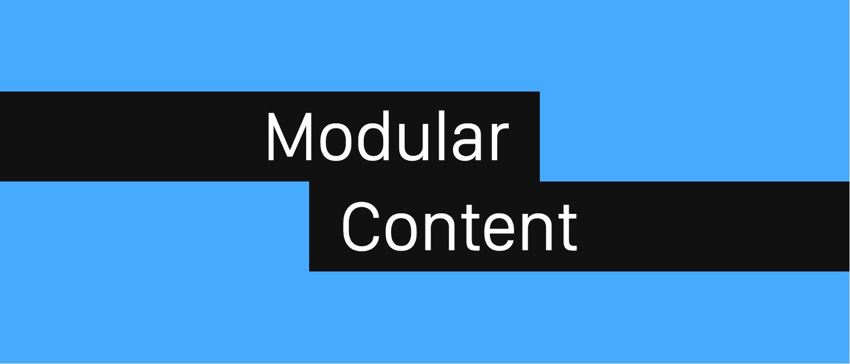 Modular Content 21:9